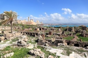 Tyre ruins and coastline